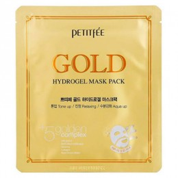 Гидрогелевая маска для лица Petitfee с золотом Gold Hydrogel Mask Pack, 1 шт