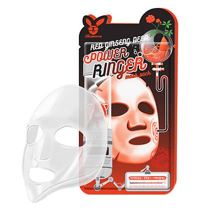 Ткан. маска для лица с Красн. Женьш. RED gInseng DEEP PQWER Ringer mask pack, 1 шт